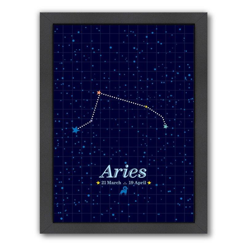 East Urban Home Aries Framed Graphic Art Wayfair