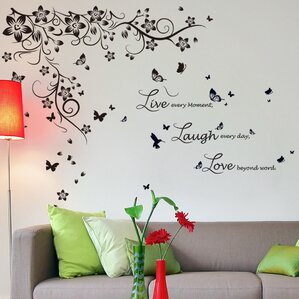 Trees And Flower Wall Decals Youll Love Wayfair - Wall decals love
