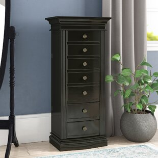 Canora Grey Tolley Jewelry Armoire with Mirror
