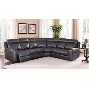 Vernetta Top Grain Leather Reclining Sectional by Red Barrel Studio