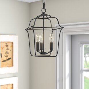 Laurel Foundry Modern Farmhouse Chloe Royal Ebony Gallery 3-Light Foyer Pendant