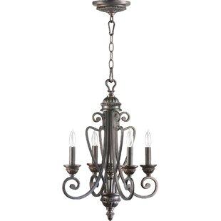 Quorum Summerset 4-Light Candle Style Chandelier