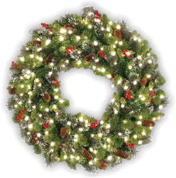 christmas wreaths garlands - Outdoor Christmas Tree Decorations