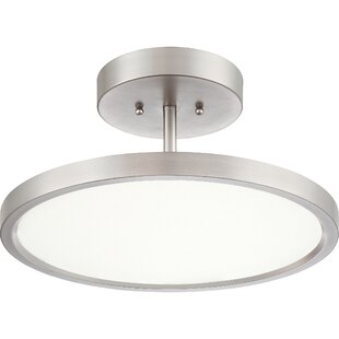 Zabel 1-Light LED Semi Flush M..