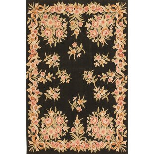 Reviews One-of-a-Kind Yesler Hand-Knotted Black / Beige Area Rug By Isabelline