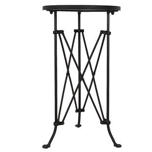 Heaven Round Metal End Table by 17 Stories