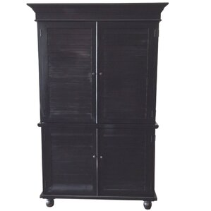 Louvered Armoire by D-Art Collection