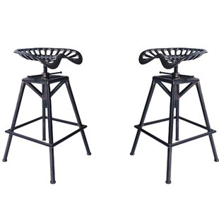 Hoggan Backless Adjustable Height Bar Stool - set of 2 (Set of 2) by Williston Forge