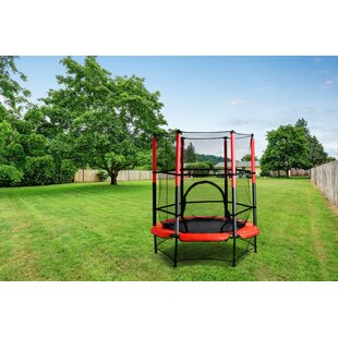 Argonaut 5' Trampoline With Safety Enclosure By Freeport Park