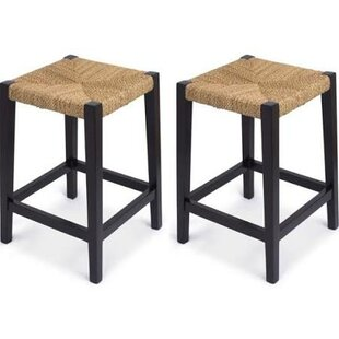 Best Rush Weave 24 Bar Stool (Set of 2) by BirdRock Home Reviews (2019) & Buyer's Guide