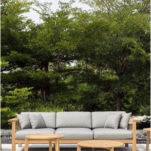 Maro Teak Patio Sofa with Sunbrella Cushions