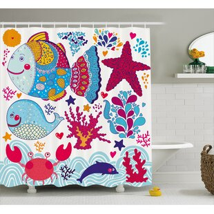 Marine Decor Single Shower Curtain