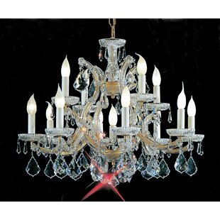 Classic Lighting Maria Thersea 13-Light Candle Style Chandelier