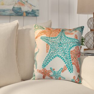 Kennebunkport Starfish 100% Cotton Throw Pillow
