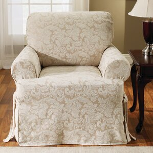 Scroll Classic T-Cushion Armchair Slipcover by Sure Fit