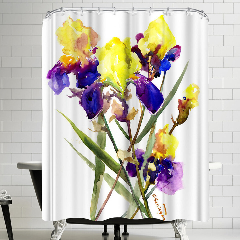 East Urban Home Suren Nersisyan Irises I Single Shower Curtain Wayfair
