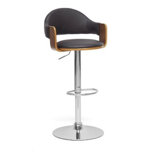 Baxton Studio Adjustable Height Swivel Bar Stool by Wholesale Interiors