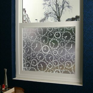 About Time Privacy Window Film by Stick Pretty