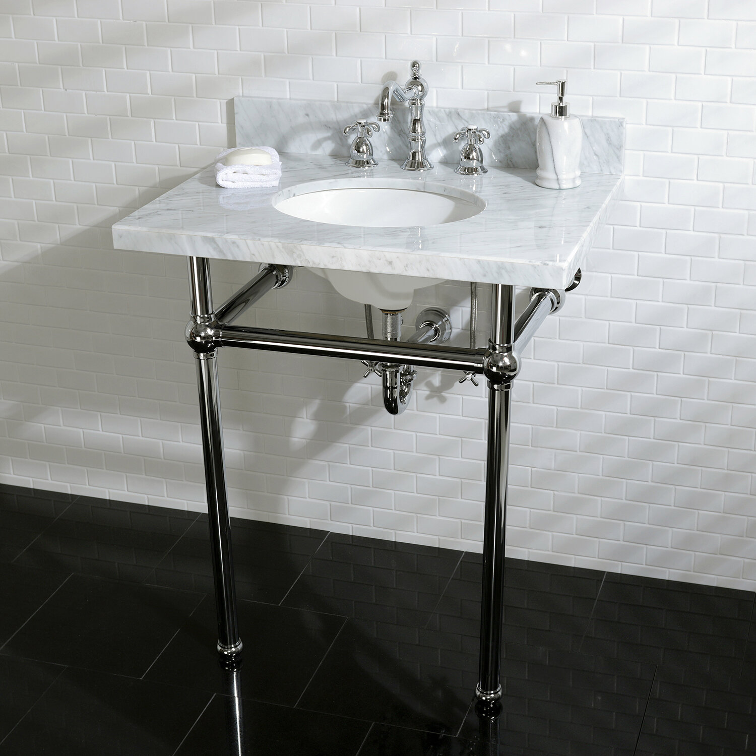 Kingston Brass Templeton 33 Tall Oval Console Bathroom Sink With Overflow Reviews Wayfair