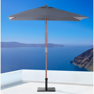 Latitude Run Pau 3.87' x 6.5' Rectangular Market Umbrella