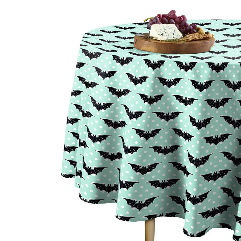 Simoneau Halloween Bats Dots Tablecloth