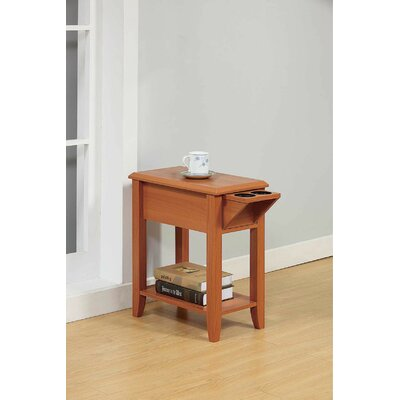 Red Barrel Studio Tollett Chairside End Table With Storage Red Barrel Studio Color Light Cherry Dailymail
