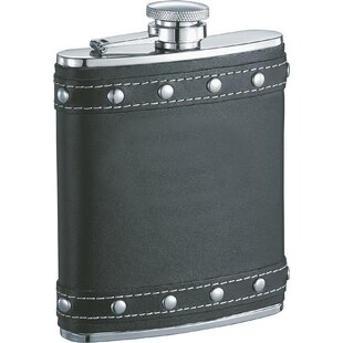 Rocker Leather Studded Liquor Flask