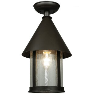 Meyda Tiffany Keebler 1-Light Semi-Flush Mount