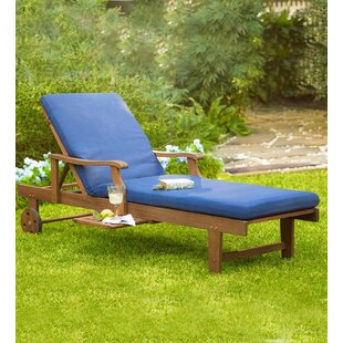Plow & Hearth Claremont Eucalyptus Outdoor Reclining Chaise Lounge