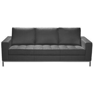 Savings Witney Leather Sofa by Orren Ellis Reviews (2019) & Buyer's Guide