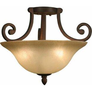 Volume Lighting Isabela 3-Light Semi Flush Mount