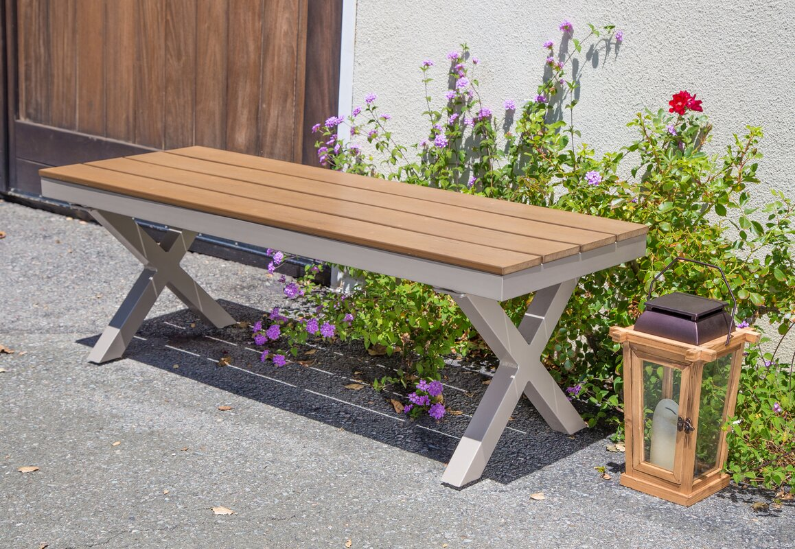 vineyard bench outdoor resin inch products weatherproof polywood garden