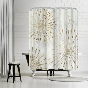 Looking for PI Creative Art Golden Stars I Shower Curtain ByEast Urban Home