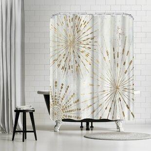 Read Reviews PI Creative Art Golden Stars I Shower Curtain ByEast Urban Home