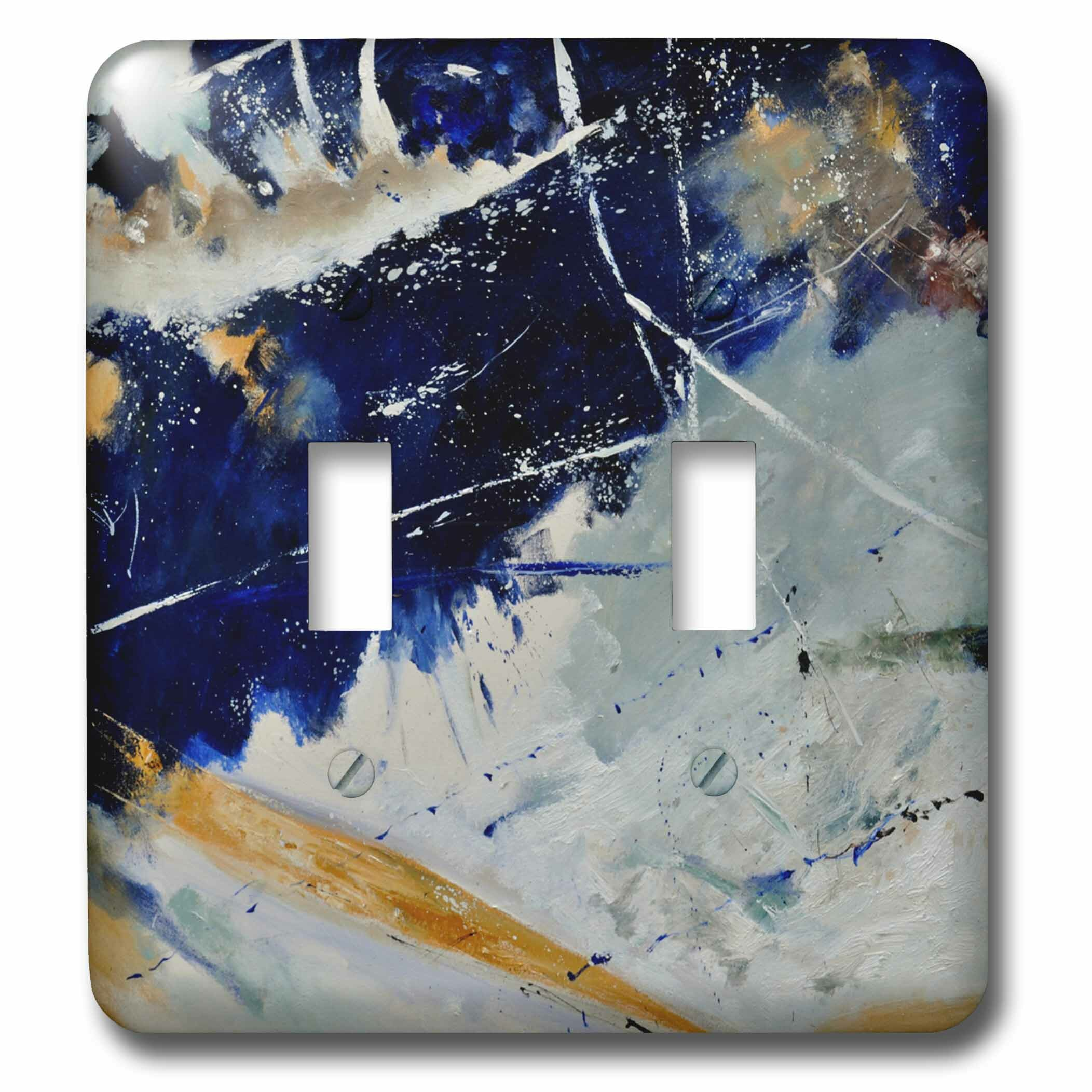 3drose Different Wave Abstract 2 Gang Toggle Light Switch Wall Plate Wayfair
