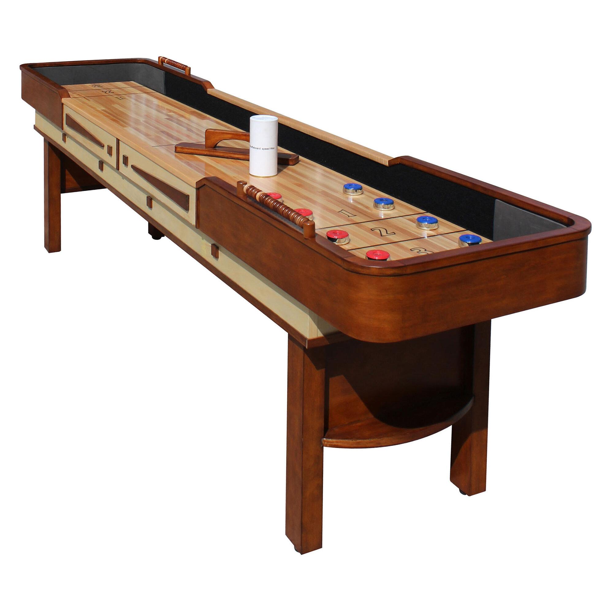 hathaway games merlot shuffleboard table reviews wayfair rh wayfair com shuffleboard tables near me shuffleboard tables walmart
