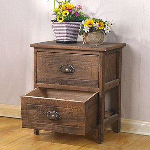 Llanos Storage 2 Drawer Nightstand
