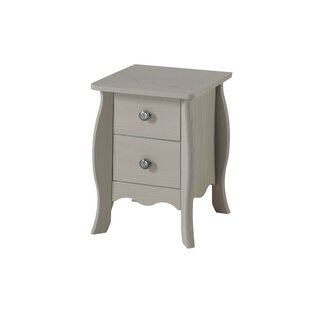 Cerny 2 Drawer Bedside Table By Brambly Cottage