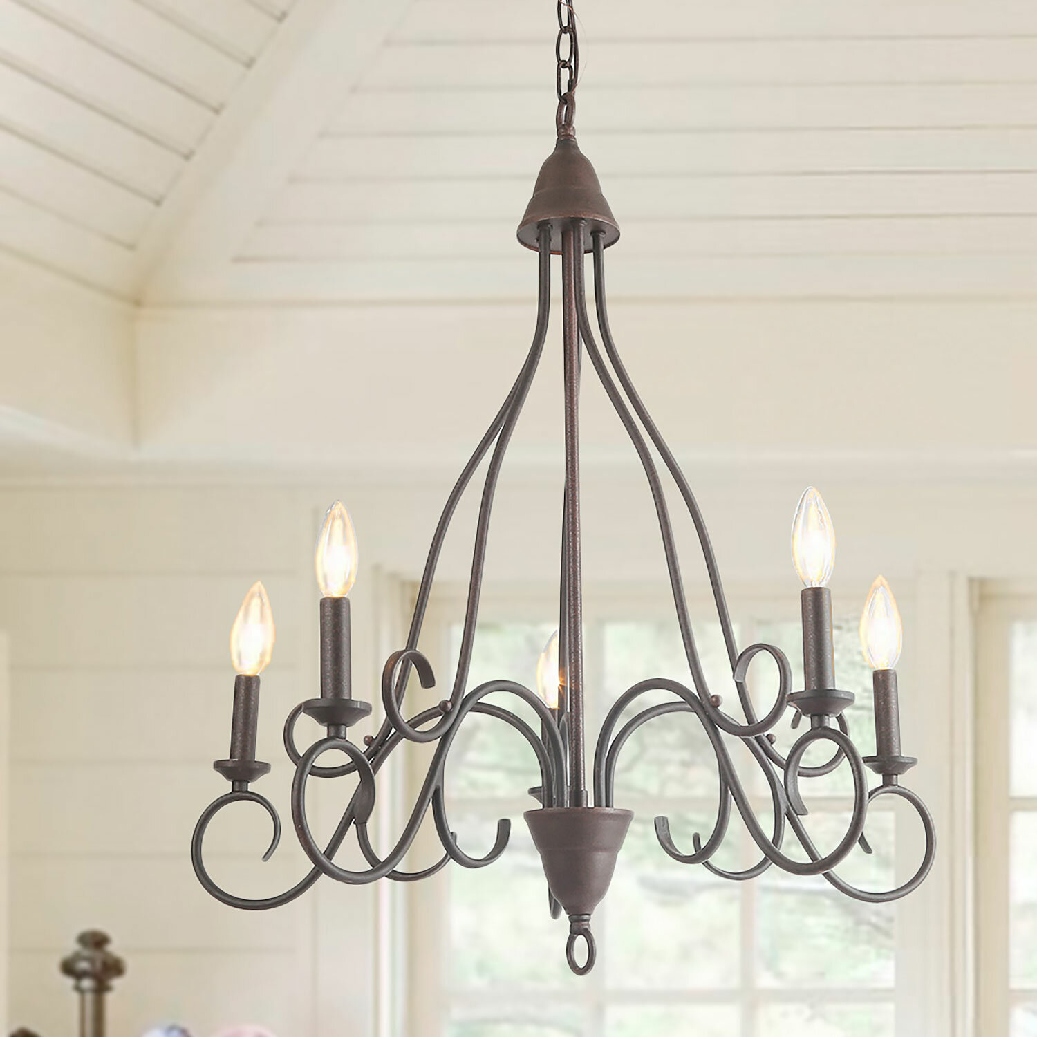 Fleur De Lis Living Conyers 5 Light Candle Style Classic Traditional Chandelier Wayfair