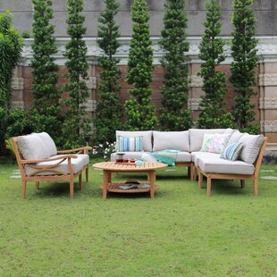 Ocilla 8 Piece Teak Sectional Set with Cushions by Birch Lane™ Heritage