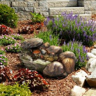 Pure Garden Resin Cascading Rock Fountain