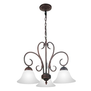 CWI Lighting Maddy 3-Light Shaded Chandelier