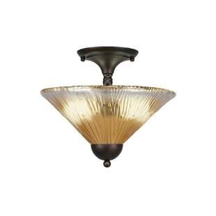 Morales 2-Light Semi Flush Mount by Red Barrel Studio
