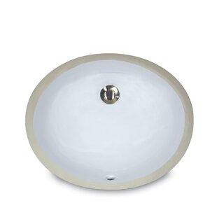 Great Point Ceramic Oval Undermount Bathroom Sink with Overflow ByNantucket Sinks