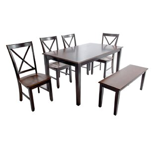 Alcove 6 Piece Dining Set Loon Peak