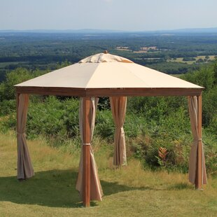 Bambrella Levante 10 Ft. W x 10 Ft. D Solid Wood Patio Gazebo