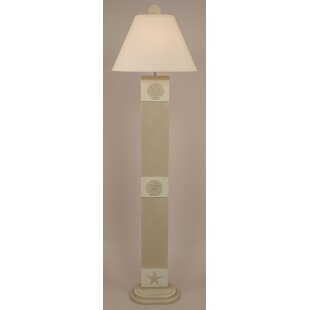 Coastal Living 3 Panel Multi Shell 63 Floor Lamp