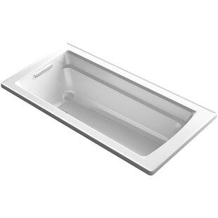 Kohler Archer Alcove VibrAcoustic Bath with Integral Apron, Tile Flange and Right-Hand Drain