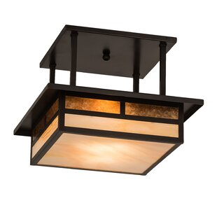 Alluvial Square 2-Light Semi Flush Mount by Bloomsbury Market