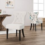 Orourke Two Toned Upholstered Dining Chair (Set of 2) by Alcott Hill®